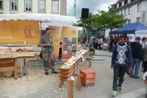 Aktion der Schreinerinnung zum Tag des Handwerks 2015 auf dem Göppinger Marktplatz
